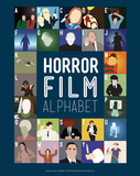 Horror Film Alphabet - A to Z Reproduction d'art par Stephen Wildish