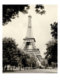 Eiffel Tower I - black and white