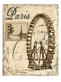 Paris Collage III - Ferris Wheel