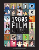 1980s Film Alphabet - A to Z Reproduction d'art par Stephen Wildish