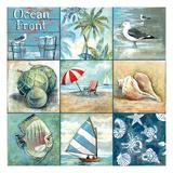 Ocean Front - Nine Square Giclée premium par Gregory Gorham