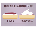 Cream Tea Ordering - Devon and Cornwall
