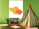 Orange Baby Elephant
