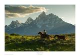 Along the Teton Trail Reproduction d'art par Robert Dawson