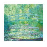 The Waterlily Pond with Japanese Bridge, 1899 Reproductions de collection premium par Claude Monet