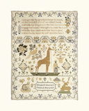 Sampler with Giraffe