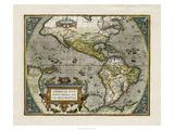 Carte du Nouveau Monde Reproduction d'art