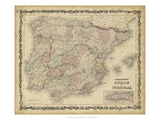 Johnson&#39;s Map of Spain &amp; Portugal