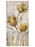 Golden Poppies on Taupe I
