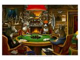 Deer Camp Reproduction d'art par Leo Stans