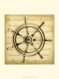 Sepia Captain's Wheel