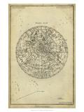 Antique Astronomy Chart I Reproduction d'art par Daniel Diderot