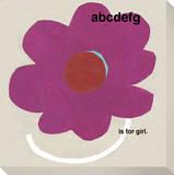 ABCDEFG is for Girl (Pink Flower)