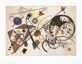 Trait transversal  Reproduction d'art par Wassily Kandinsky