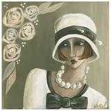 Femme Chapeau Blanc Beige