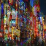 Lumières de la villeII Reproduction d'art par Jean-François Dupuis