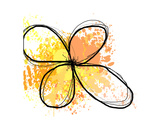 Orange Yellow Abstract Flower