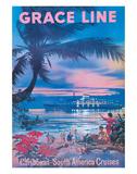 Grace Line  Caribbean c1958