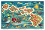 Dole Map of the Hawaiian Islands c1950
