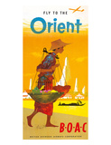 BOAC  Fly to the Orient c1950's