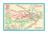 Vintage Transport Map