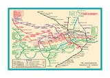Vintage Transport Map