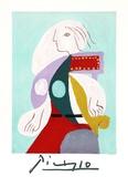 Femme a la Robe Multicolore
