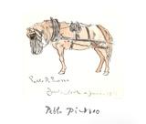 Cheval Attele Reproduction pour collectionneurs par Pablo Picasso