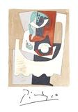 Nature Morte au Gueridon et a l'Assiette Reproduction pour collectionneurs par Pablo Picasso