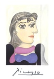Buste de Femme au Foulard Mauve
