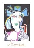 Buste De Femme Au Chapeau Bleu
