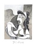 Femme Accoudee au Fauteuil
