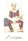 Arlequin a la Guitare Reproduction pour collectionneurs par Pablo Picasso
