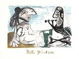Femme Assise et Joueur de Flute