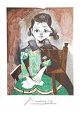 Petite Fille a la Robe Verte