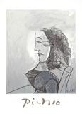 Buste de Femme aux Cheveux Bouchles