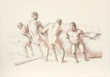 Hombres con Barca II