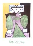 Femme en Vert et Mauve