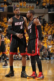 Indianapolis  IN - May 24: Miami Heat and Indiana Pacers - LeBron James and Dwyane Wade