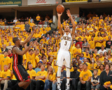 Indianapolis  IN - May 24: Miami Heat and Indiana Pacers - George Hill and Mario Chalmers