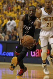 Indianapolis  IN - May 24: Miami Heat and Indiana Pacers - Dwyane Wade and David West