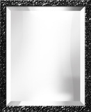 Black Lacquer Portrait Mirror