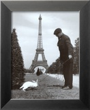 Champ de Mars, Paris Reproduction encadrée par Robert Doisneau