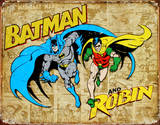 Batman and Robin Weathered Panels