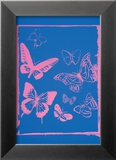Vanishing Animals: Butterflies  c1986 (Hot Pink on Blue)