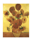Fifteen Sunflowers on Gold  c1888