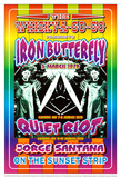 Iron Butterfly and Quiet Riot Whisky-A-Go-Go Los Angeles  c1979