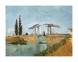 Le pont du chemin de fer à Argenteuil Reproduction d'art par Vincent Van Gogh