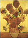 Fifteen Sunflowers on Gold  c1888