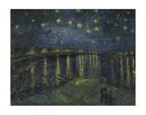Nuit étoilée sur le Rhône Reproduction d'art par Vincent Van Gogh
